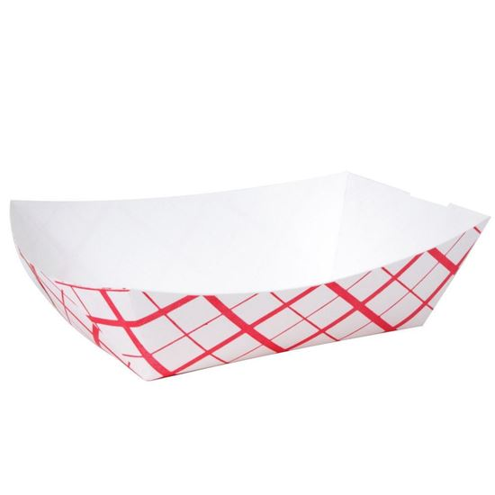 Picture of 3* Lbs  Red-Weave Paper Food Tray (500/Cs )**MR**