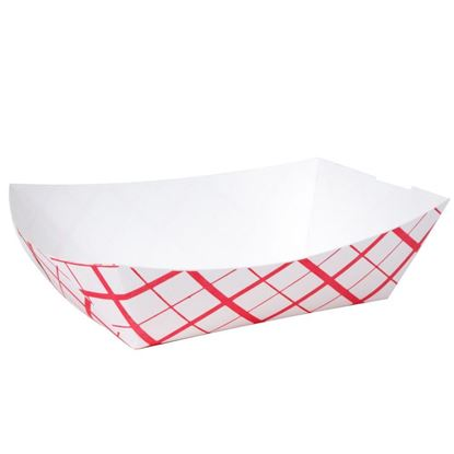 Picture of 2* Lbs  Red-Weave Paper Food Tray (1000/Cs )