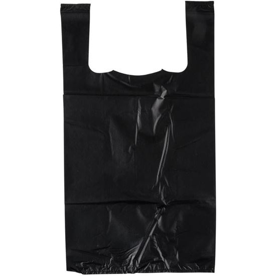 Picture of 1/8 HDPE Black Grocery Medium Bags (2000ps)