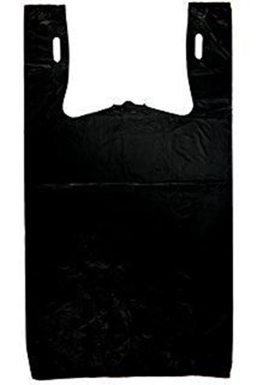 Picture of 1/6 HDPE Black Grocery Bags(Heavy Duty)