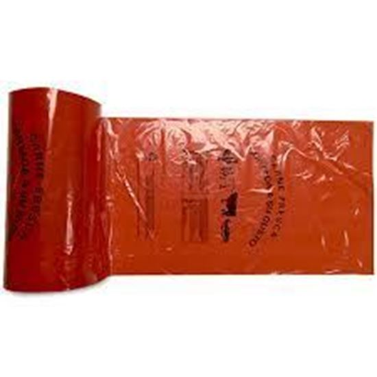 Picture of 11x19 LDPE Red Meat Roll Bags(4Rolls/cs)