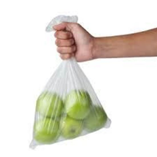 Picture of 8+4x18R LDPE Clear Poly Bags(1000/cs)