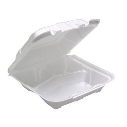 Picture of 883 Three Compartment Foam Lunch Box (8x8x3)