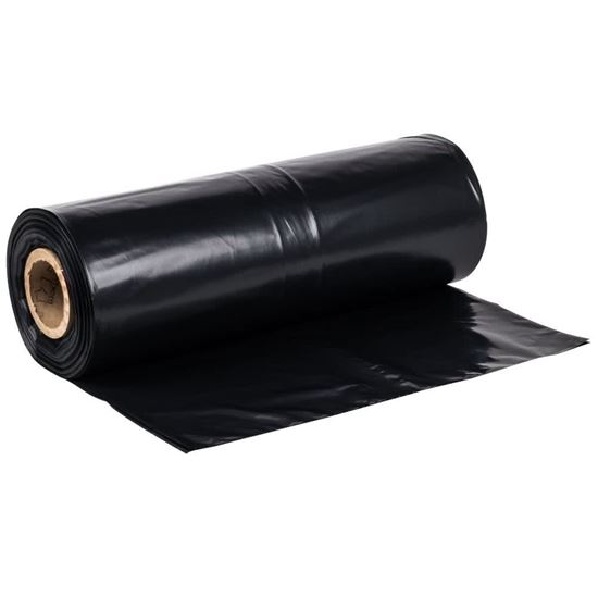 Picture of 33x40 LDPE Black Trash Bags (1.3Mil/5 Rolls/100)