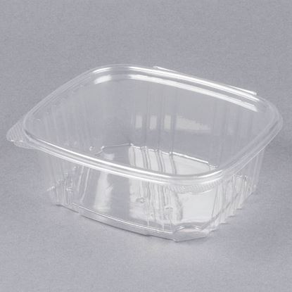 Picture of 24oz Clear Hinged Deli Container 200 sets