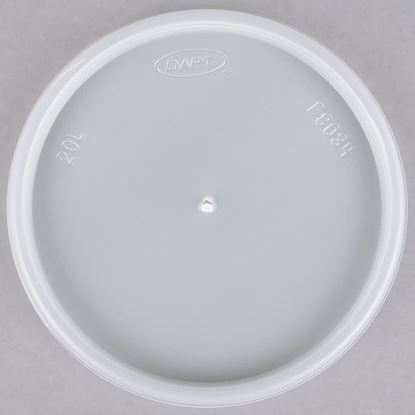 Picture of LVFC20  Foam Container Lid (1000pc) Match Container  *8FC20/12FC20/16FC20