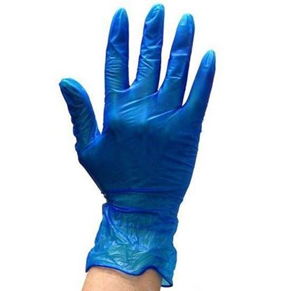 Picture of Vinyl Blue Glove Small Powdered ( 10/100 )