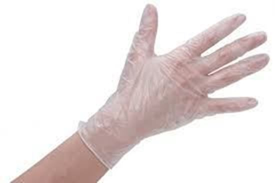 Picture of Vinyl CLear Glove Large Powdered ( 10/100 )