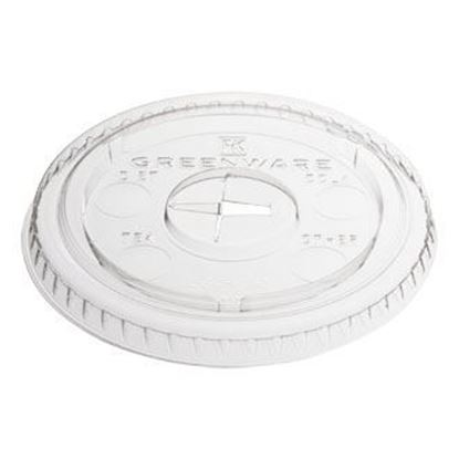 Picture of 10 oz Flat Plastic Cold Cup Lids (1000pcs)