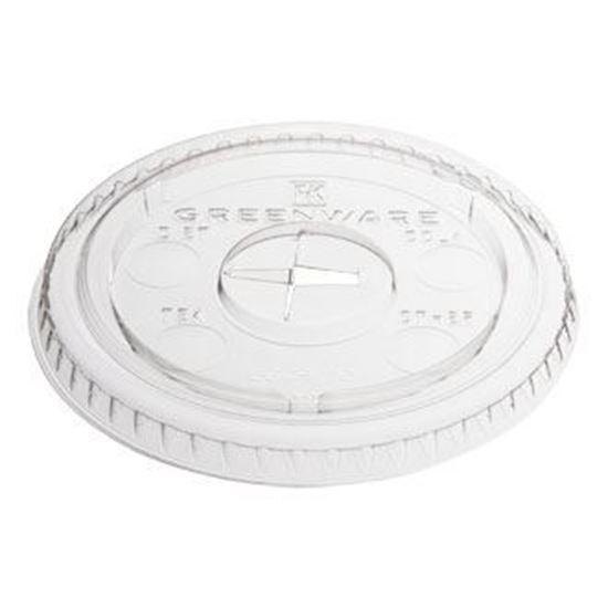 Picture of 16/24oz Flat Plastic Cold Cup Lids (1000pcs)