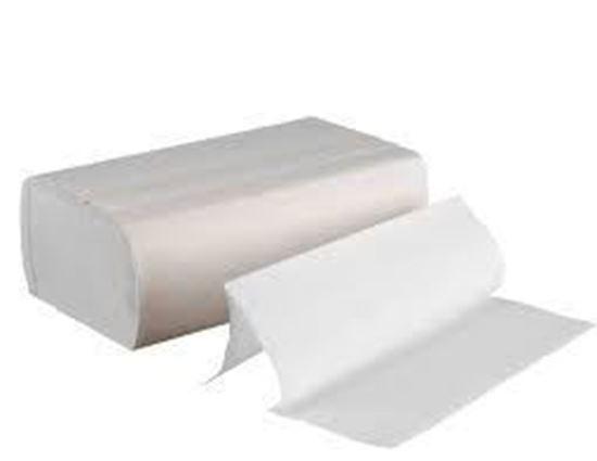 Picture of 9 1/5 x 9 2/5  C-Fold (Multi-Fold) White Hand Towel  (250x16pk/cs)