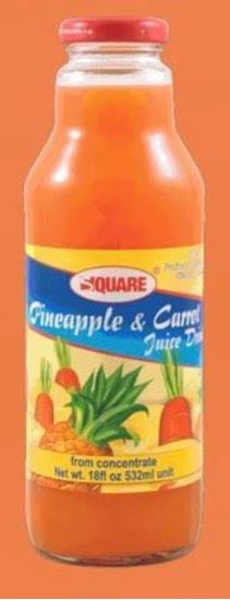 Picture of SQUARE Juice Pineapple & Carrot 18 fl. oz (12p/cs)