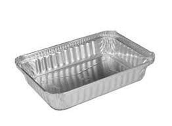 "Picture of 6""x8""x2.15"" Oblong Aluminum Container(35oz/500/cs)"