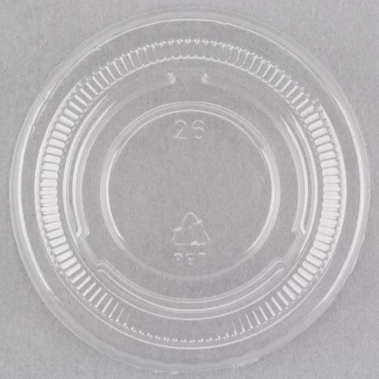 Picture of 1 oz Plastic Sauce Cup Lids (2000pcs)