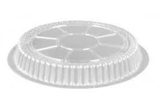 "Picture of 9"" Round Clear Plastic Dome Lids(500/cs)"