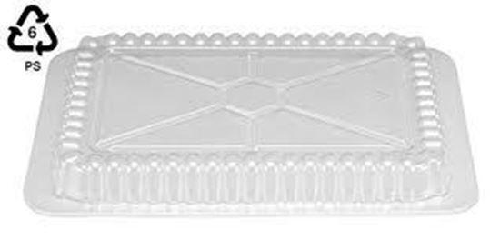 "Picture of 4.43""x 5.44"" Oblong Clear Plastic Dome Lids(500/cs)"