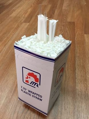 "Picture of 7.75"" Giant Wrapped Straws 300pc/20PK/cs"