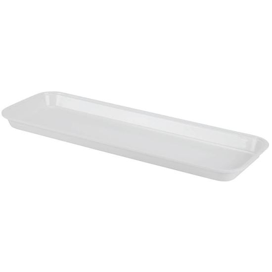 """Picture of White Market Plastic Food Tray 6""""x30""""x3/4"""""""