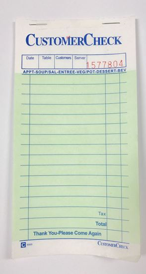 Picture of 1 Part Carbonless Check books 50ct/box