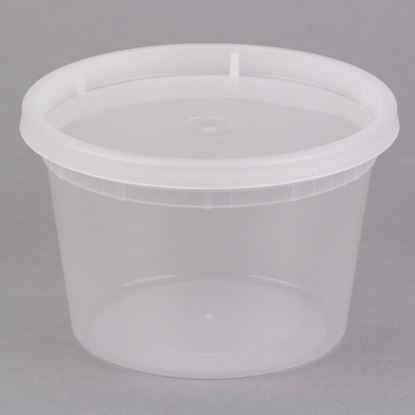 Picture of 16oz Plastic Soup container  Combo Pack (240sets/cs)