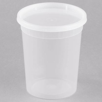 Picture of 32oz Plastic Soup Container Combo Pack (240sets/cs)